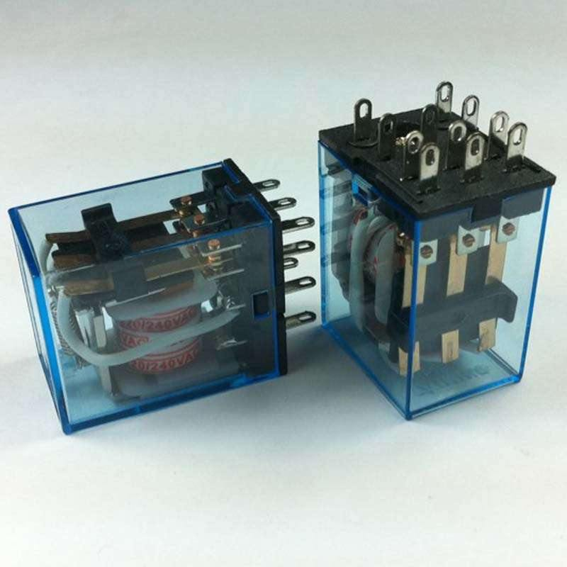 11 pin MY3J 6VDC : 35mm DIN Rail DC 6V Coil Power Relay 11-Pin