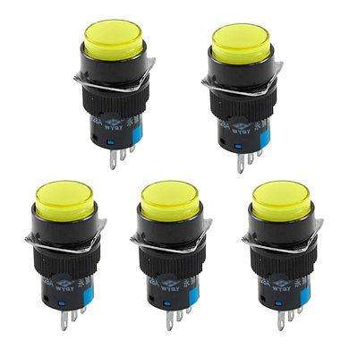 AP16JY-11Z 16MM RESET YELLOW ROUND PUSH BUTTON SWITCH
