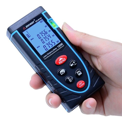 SW-M100 100m (Max. Measure Range) Digital Class II Laser Distance Meter Built-In Bubble Level To Make Measuring More Precisely