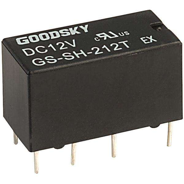 GS-SH-212T Subminiature Relay 12V DPDT