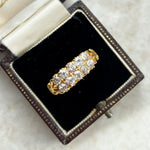 1ct Diamond Double line Ring, in 18ct Yellow Gold; Victorian
