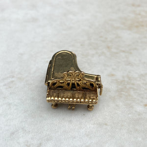 Vintage 9ct Gold Vinaigrette Piano Charm