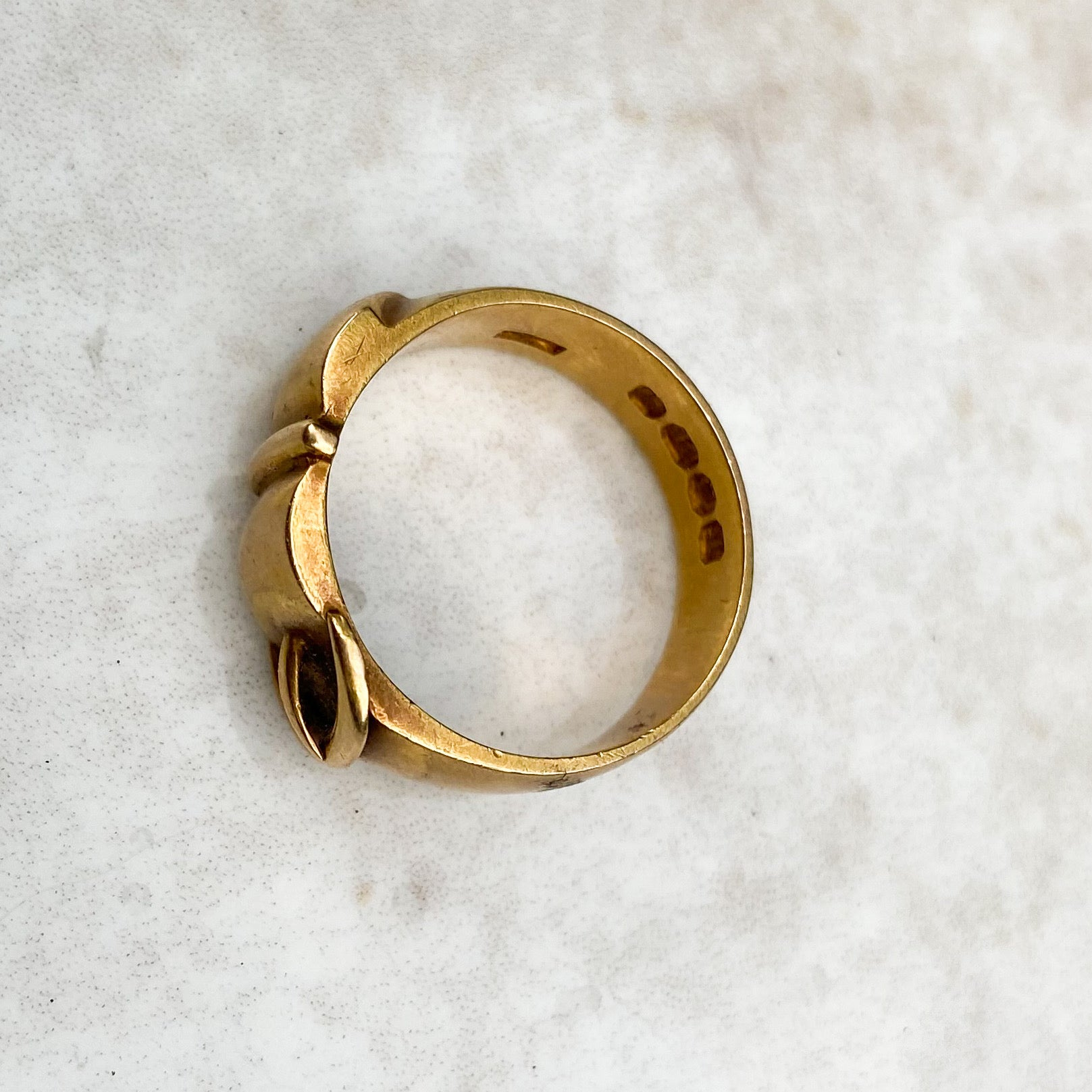 Belt and Buckle Ring; 18ct Gold; Victorian era, 1875