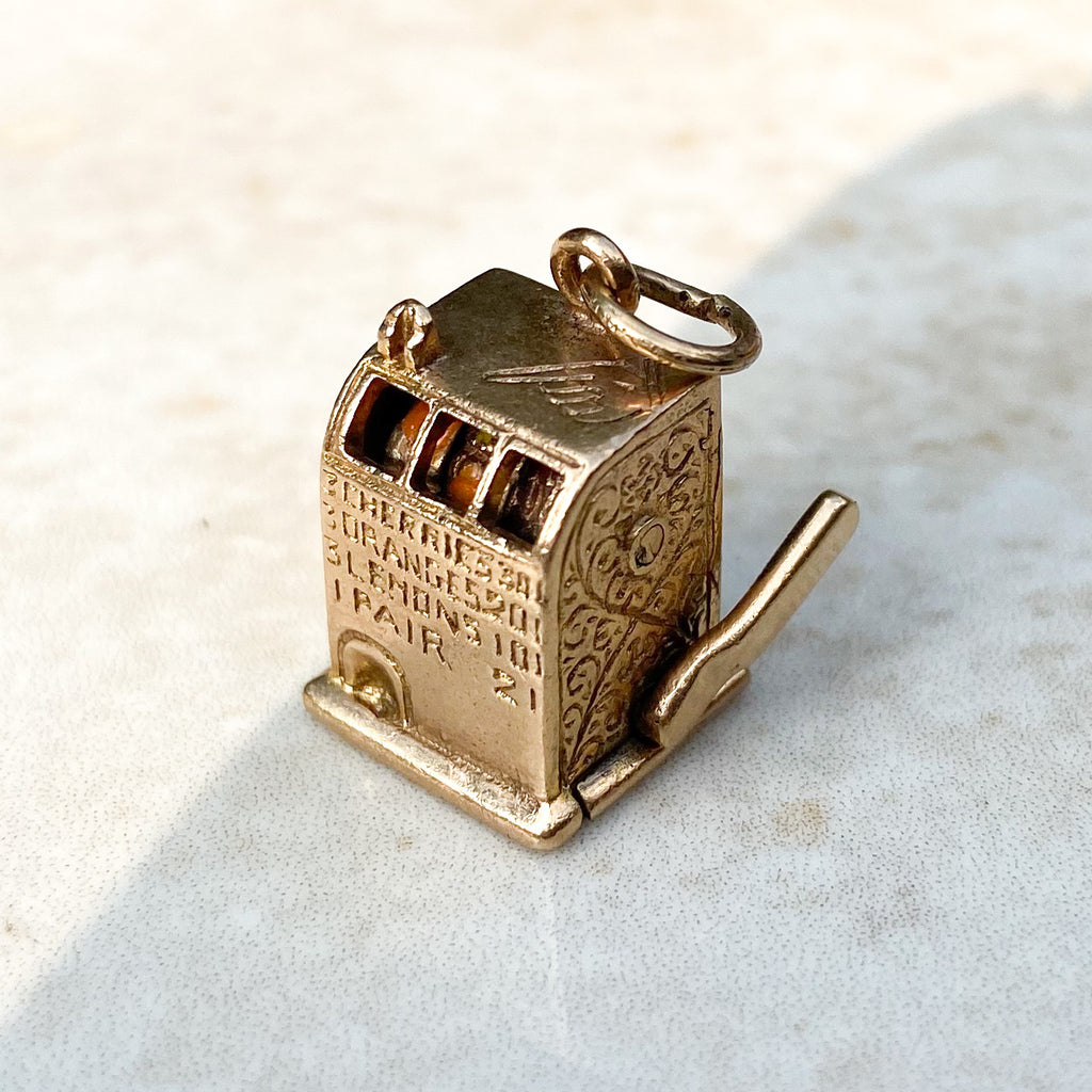 Vintage 9ct Gold Fruit Machine Charm
