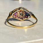 Edwardian Diamond Plaque Ring, 18ct Gold