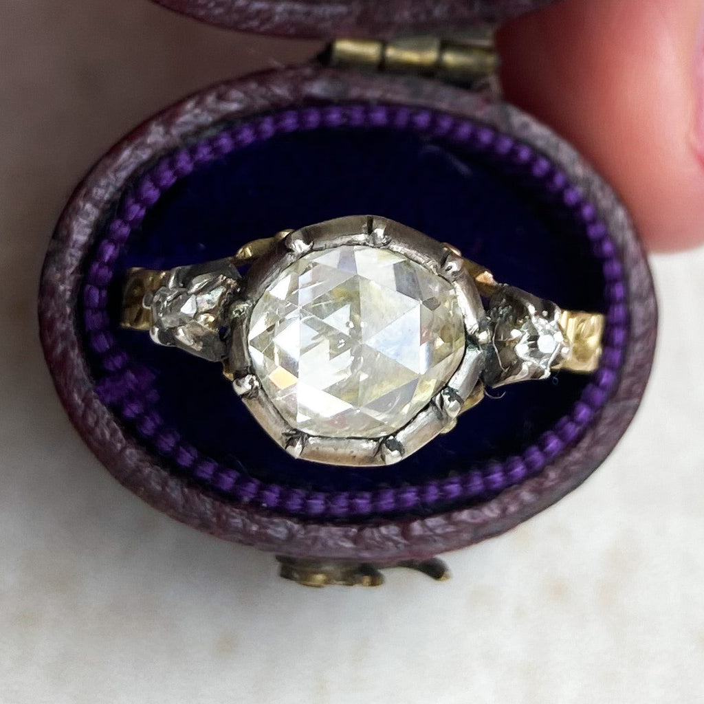Georgian-style Rose Cut Diamond Ring, 1.60cts.