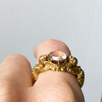 Ornate 18ct Gold and Rose Cut Diamond Angel Ring