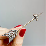 1860's Diamond Arrow Brooch