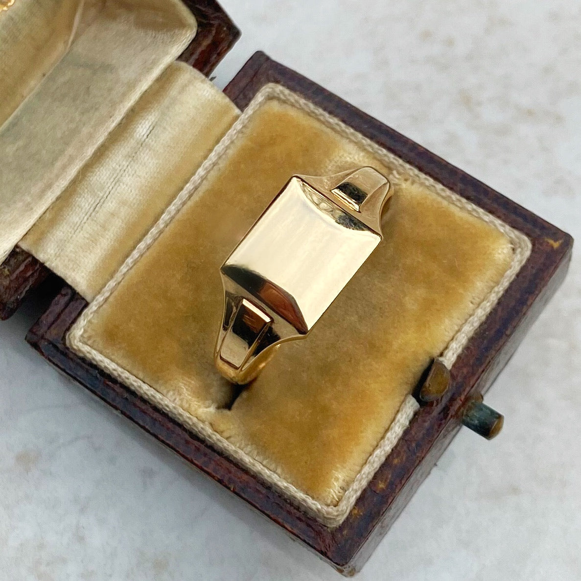Vintage Gold Signet Ring by Henry Griffith & Sons