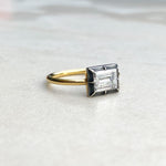 Georgian Style 0.75ct Carre Cut Diamond Foiled Back Ring