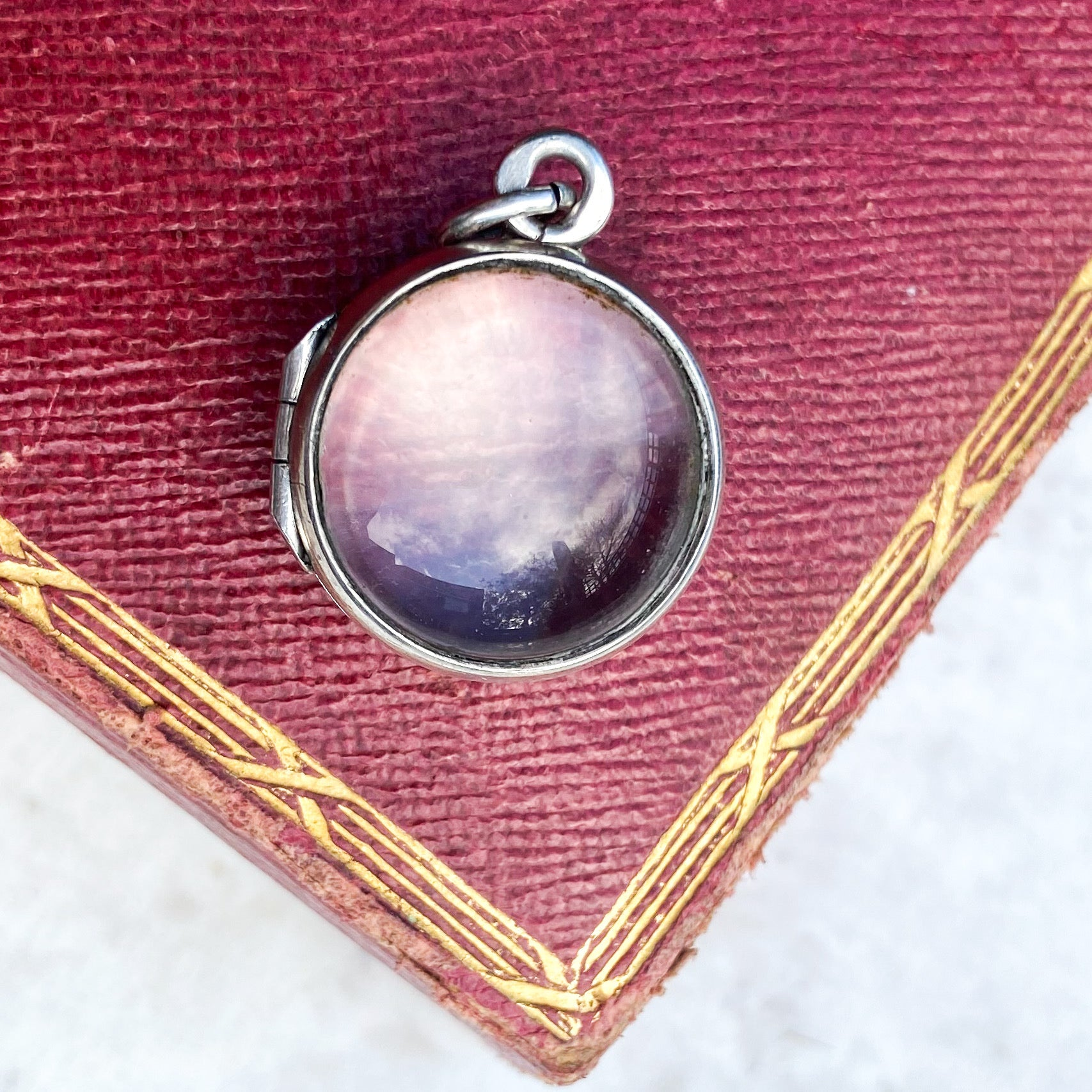 Rock Crystal 'Pool of Light' Locket in Silver