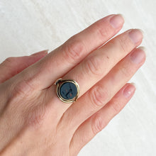 Load image into Gallery viewer, Bloodstone and 15ct Gold Signet Ring