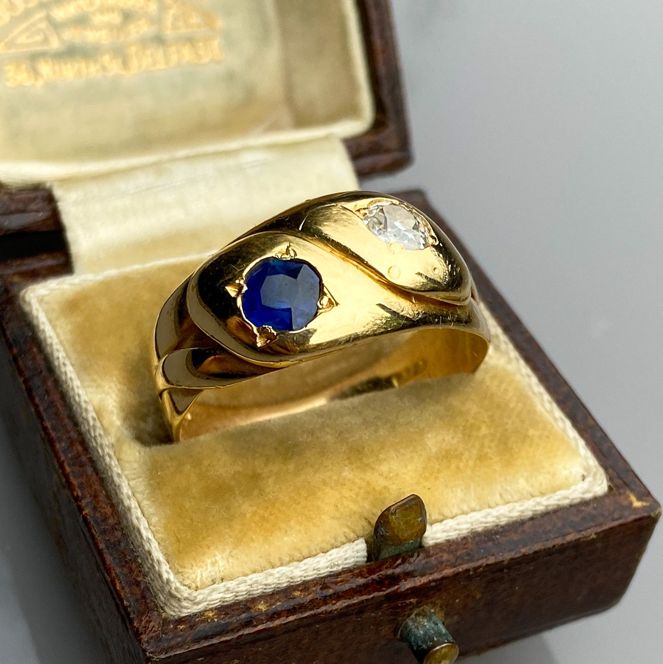 Sapphire and Diamond Snake Ring, c.1885