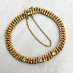 Victorian 22ct Gold and Diamond Link Bracelet