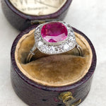 2.60ct Unheated Burma Ruby Art Deco Ring