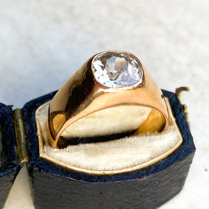 2.25ct Diamond and Rose Gold Gypsy Ring