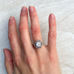 French Art Deco 1.30ct Diamond Engagement Ring