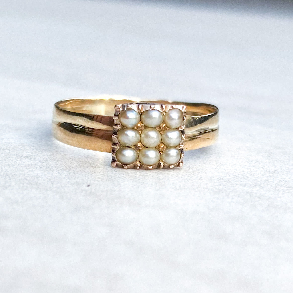 15ct Gold and Natural Pearl Ring