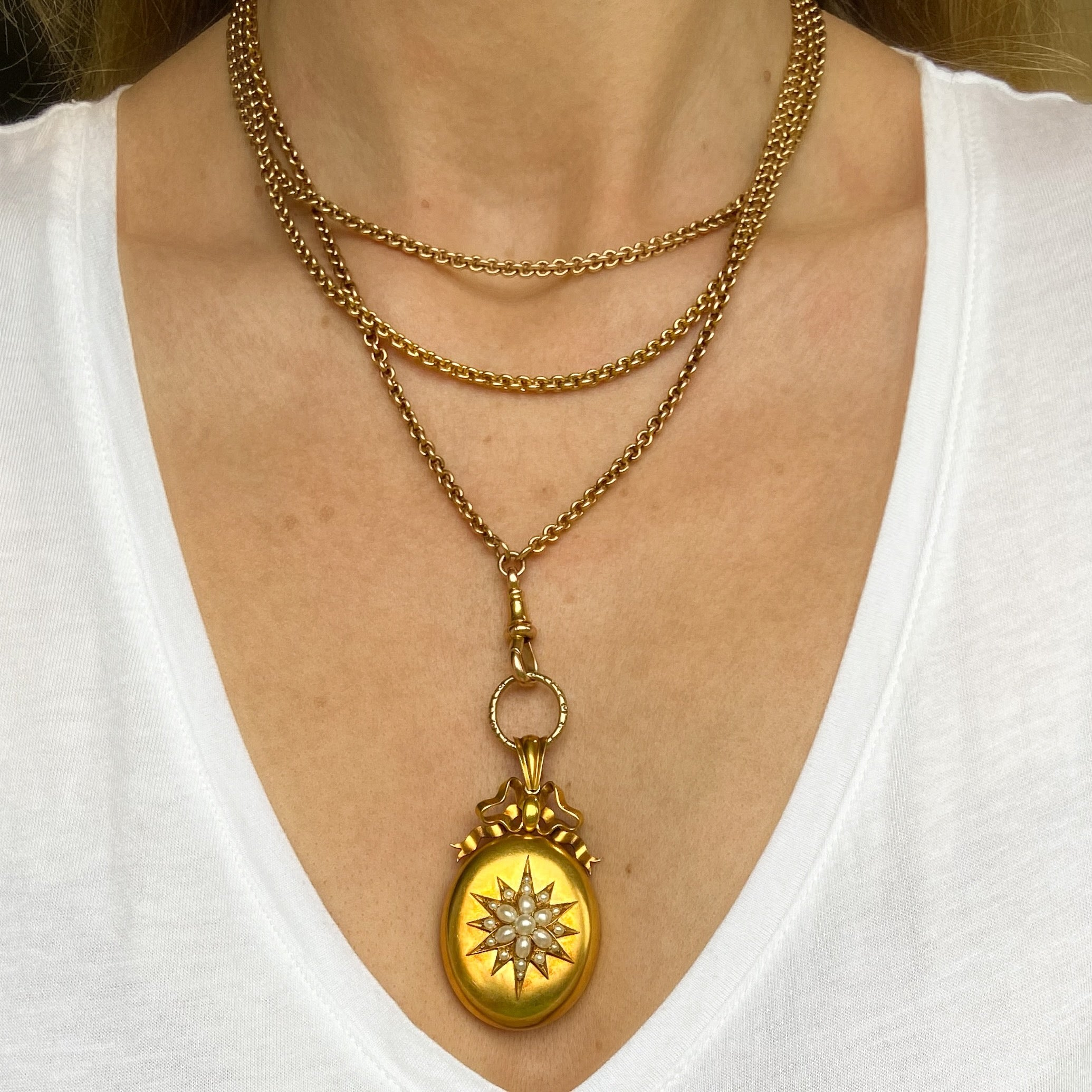 Victorian Gold and Natural Pearl Locket