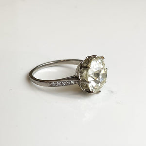 3.72ct Old European Cut Diamond Solitaire Ring