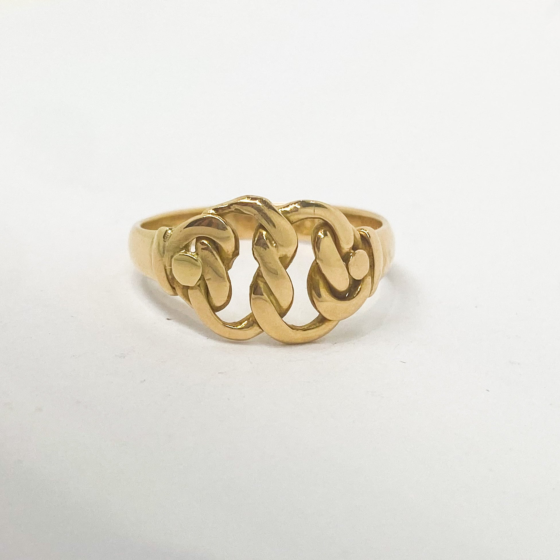 Antique 18ct Gold Reef Knot Ring, c.1910
