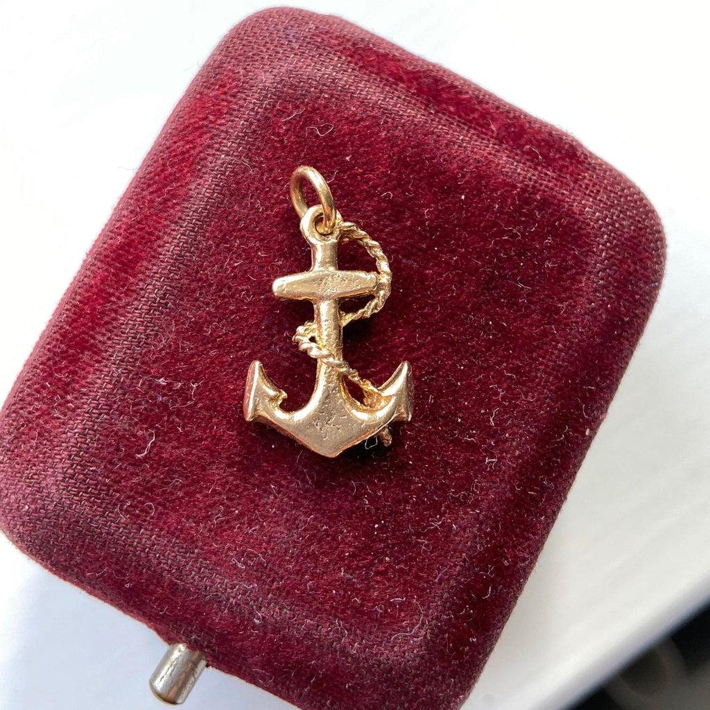 Vintage 9ct Gold Anchor Charm / Pendant