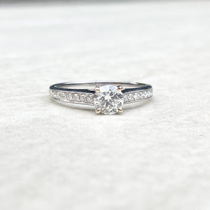 0.47ct Diamond Solitaire Ring with Diamond Shoulders