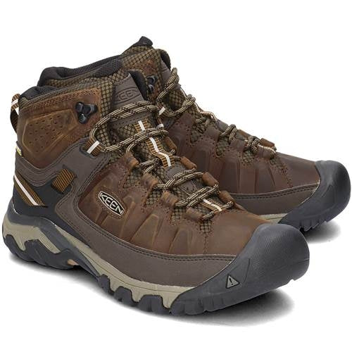 MENS KEEN TARGHEE 3 MID WP-GOLDEN BROWN