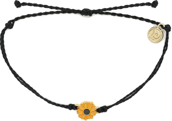 PURA VIDA GOLD ENAMEL SUNFLOWER - BLACK