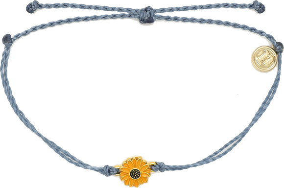 PURA VIDA GOLD ENAMEL SUNFLOWER - BLUE STEEL