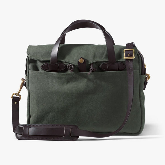 FILSON RUGGED TWILL ORIGINAL BRIEFCASE - OTTER GREEN