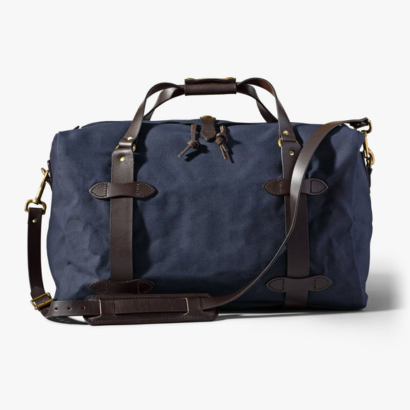 FILSON MEDIUM RUGGED TWILL DUFFLE BAG - NAVY