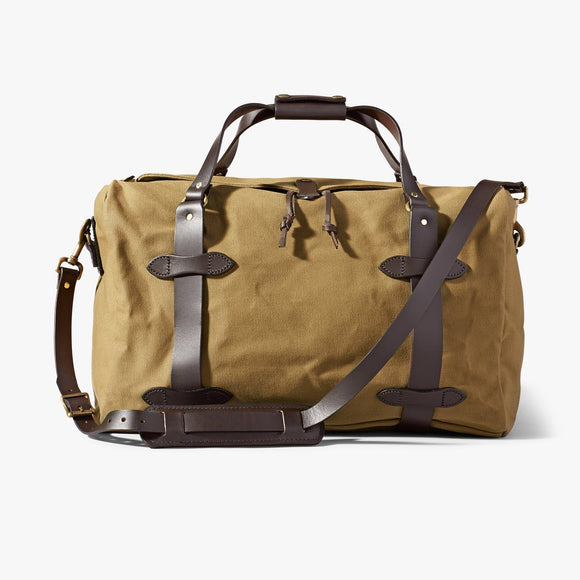 FILSON MEDIUM RUGGED TWILL DUFFLE BAG - TAN
