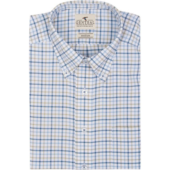 GENTEAL ICE YELLOWSTONE CHECK PERFORMANCE SPORT SHIRT