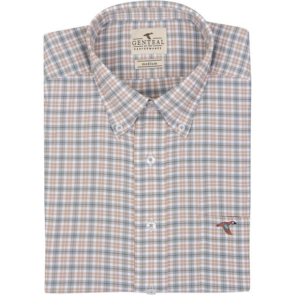 GENTEAL BIRCH LIVINGSTON PLAID PERFORMANCE SPORT SHIRT