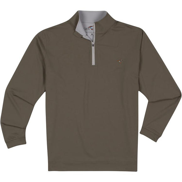 GENTEAL OLIVE PERFORMANCE QUARTER ZIP