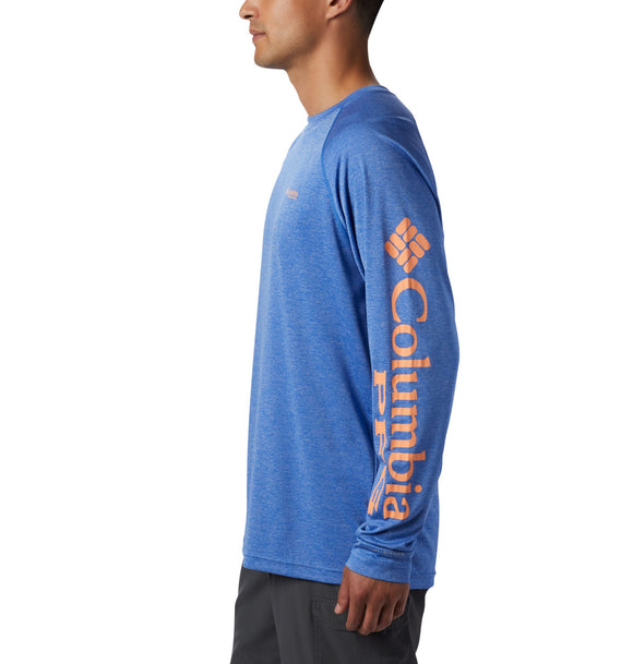 MENS COLUMBIA HEATHER L/S TERMINAL TACKLE SHIRT