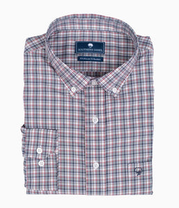 SOUTHERN SHIRT L/S TANNER PLAID - COLONIAL BLUE