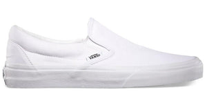 VANS AUTHENTIC SLIP ON - WHITE/WHITE
