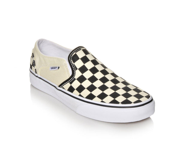 VANS CHECKERBOARD SLIP ON - BLACK/OFF WHITE