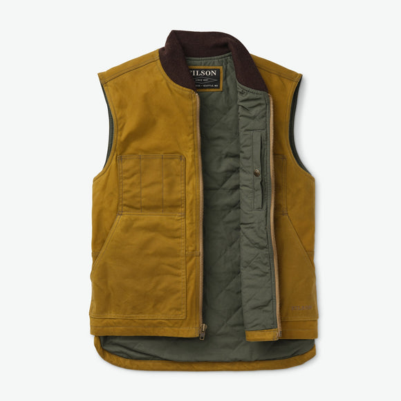 FILSON TIN CLOTH INSULATED VEST -DARK TAN