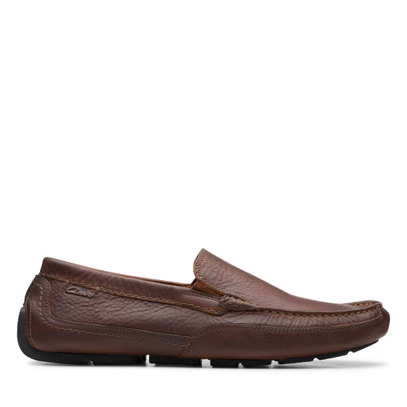 CLARKS ASHMONT STEP LIGHT - TAN LEATHER