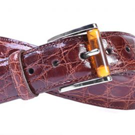 MARTIN DINGMAN WALLACE 2 BUCKLE AUTHENTIC CROCODILE BELT