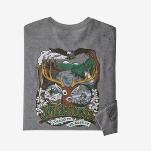 MENS PATAGONIA L/S YES TO WILDERNESS TEE