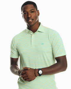 SOUTHERN TIDE DRIVER BOLD STRIPE PERFORMANCE POLO SHIRT