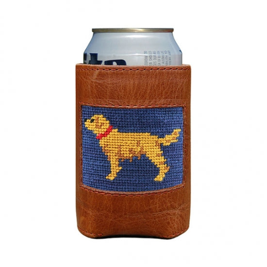 SMATHERS & BRANSON GOLDEN RETRIEVER NEEDLEPOINT CAN COOLER
