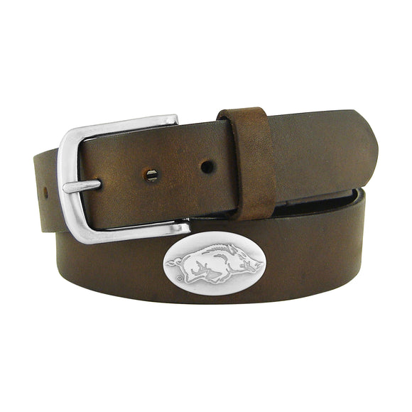 BROWN PULL UP LEATHER BELT - PACKERS