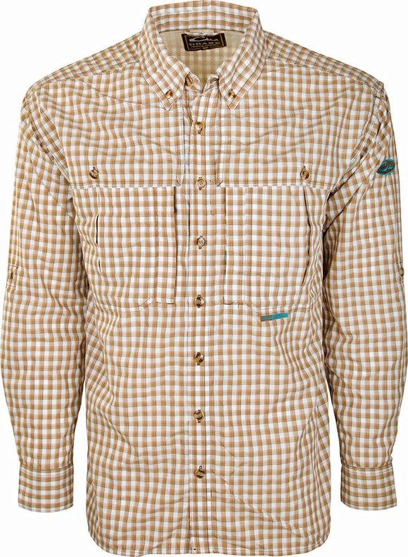 DRAKE FEATHERLITE WINGSHOOTER'S SHIRT - BROWN