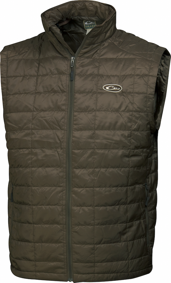 DRAKE MST SYNTHETIC DOWN  PAC VEST - BROWN