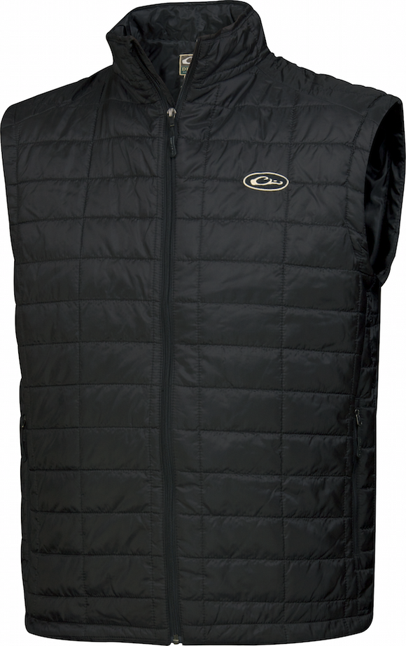 DRAKE MST SYNTHETIC DOWN PAC VEST - BLACK